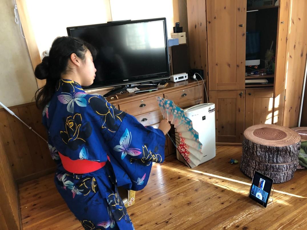 花伎(はなぎ)日本舞踊教室 春日部教室「オンライン」継続中
